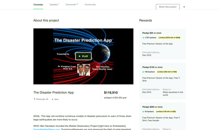 The Disaster Prediction App